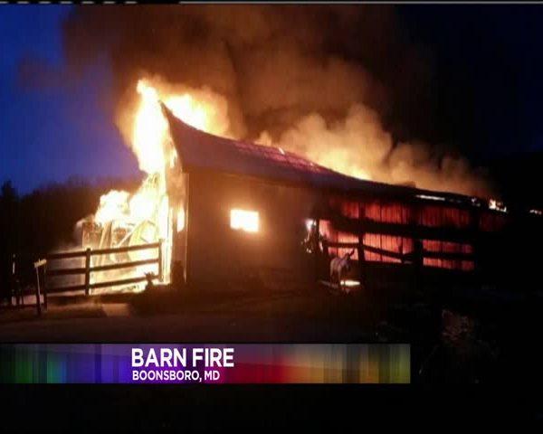 Barn Fire in Boonsboro_13921596-159532