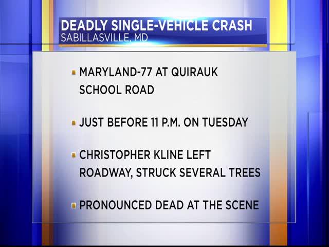 Man killed in car crash in Frederick County_30434278-159532