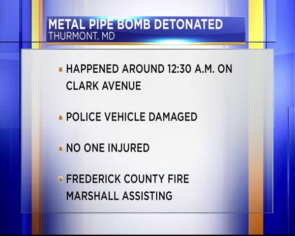 Pipe bomb detonated in Thurmont_94069630-159532