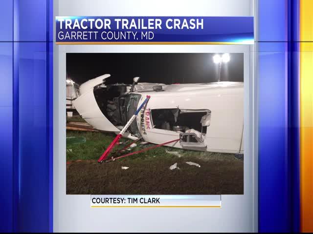 Tractor trailer crash on I-68_44408417-159532