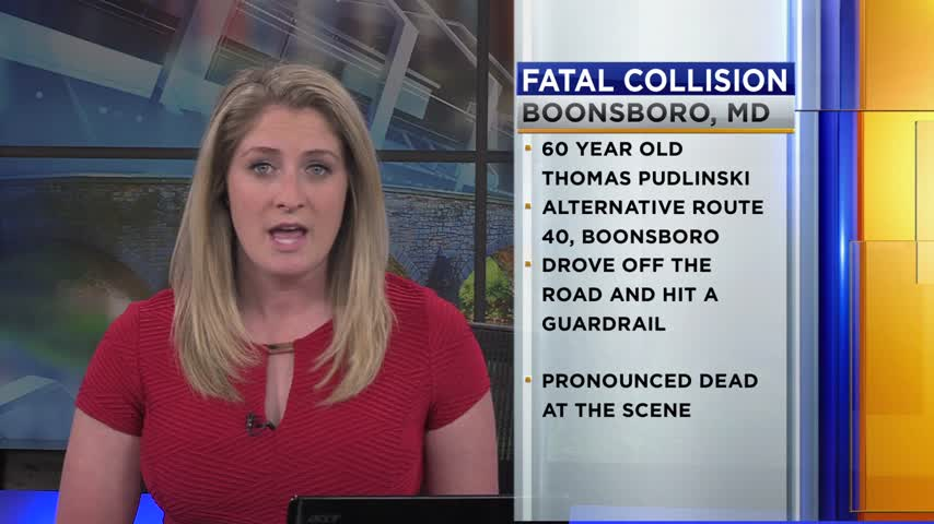 A Motorcyclist Died Saturday When He Swerved Off The Road And Hit A Guardrail In Boonsboro