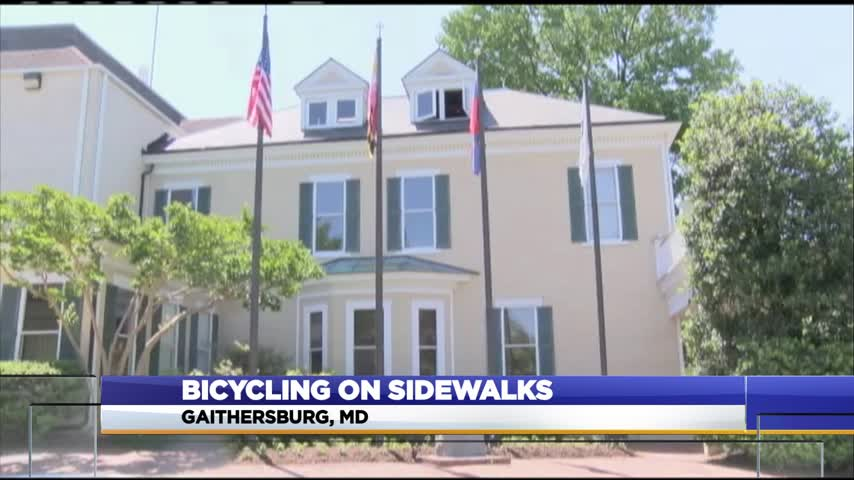 Sidewalk biking_05797471