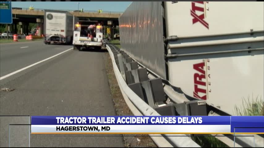 Tractor trailer roll-over causes delays amid I-81 construction