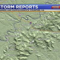 Sunday afternoon storms affect counties in Northern Virginia