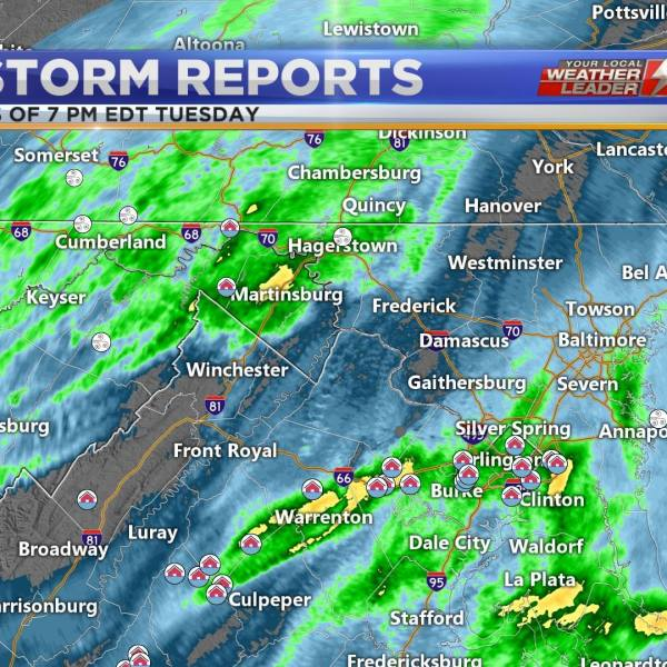 Storm reports across the region