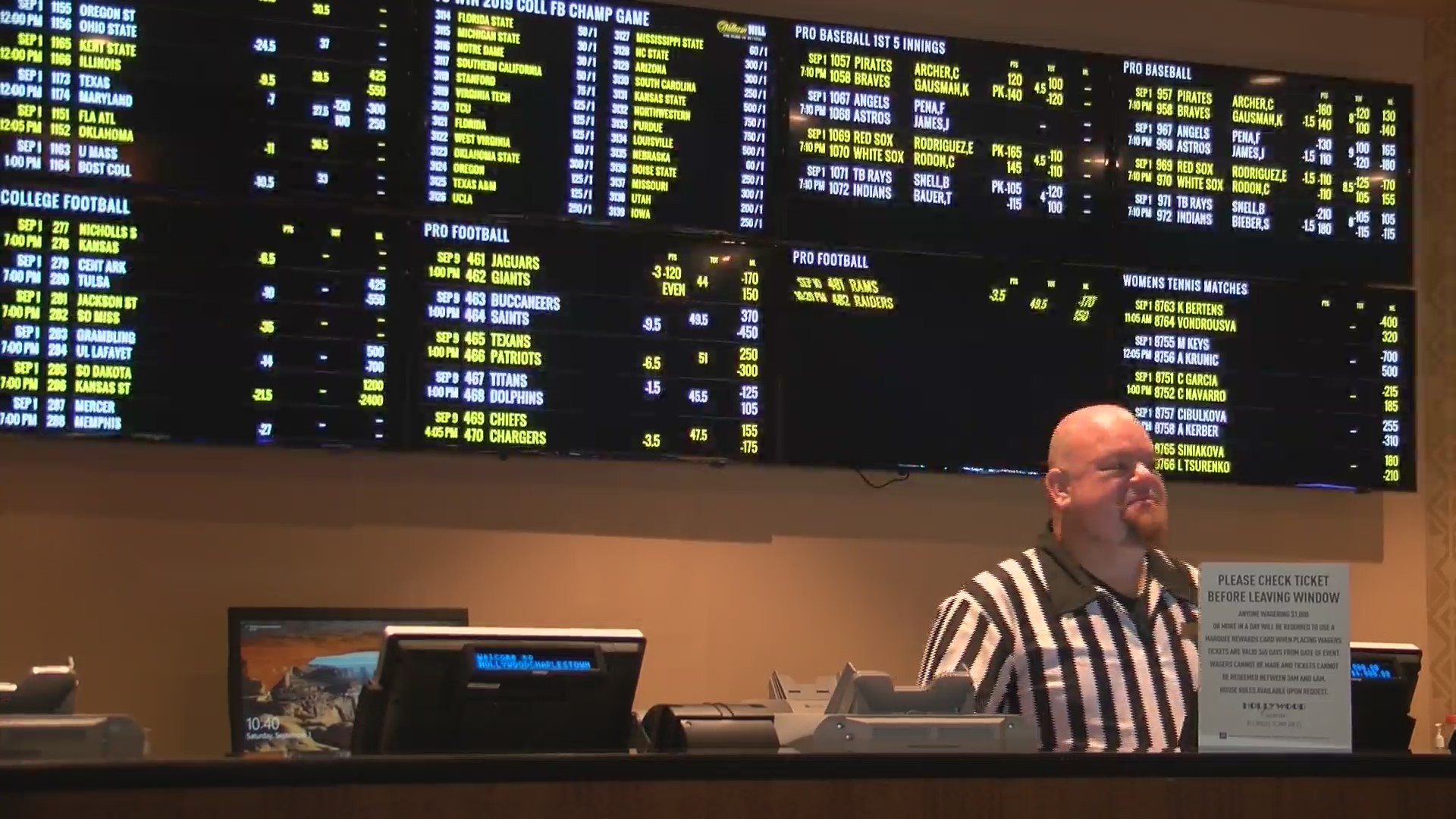 SPORTS BETTING BEGINS