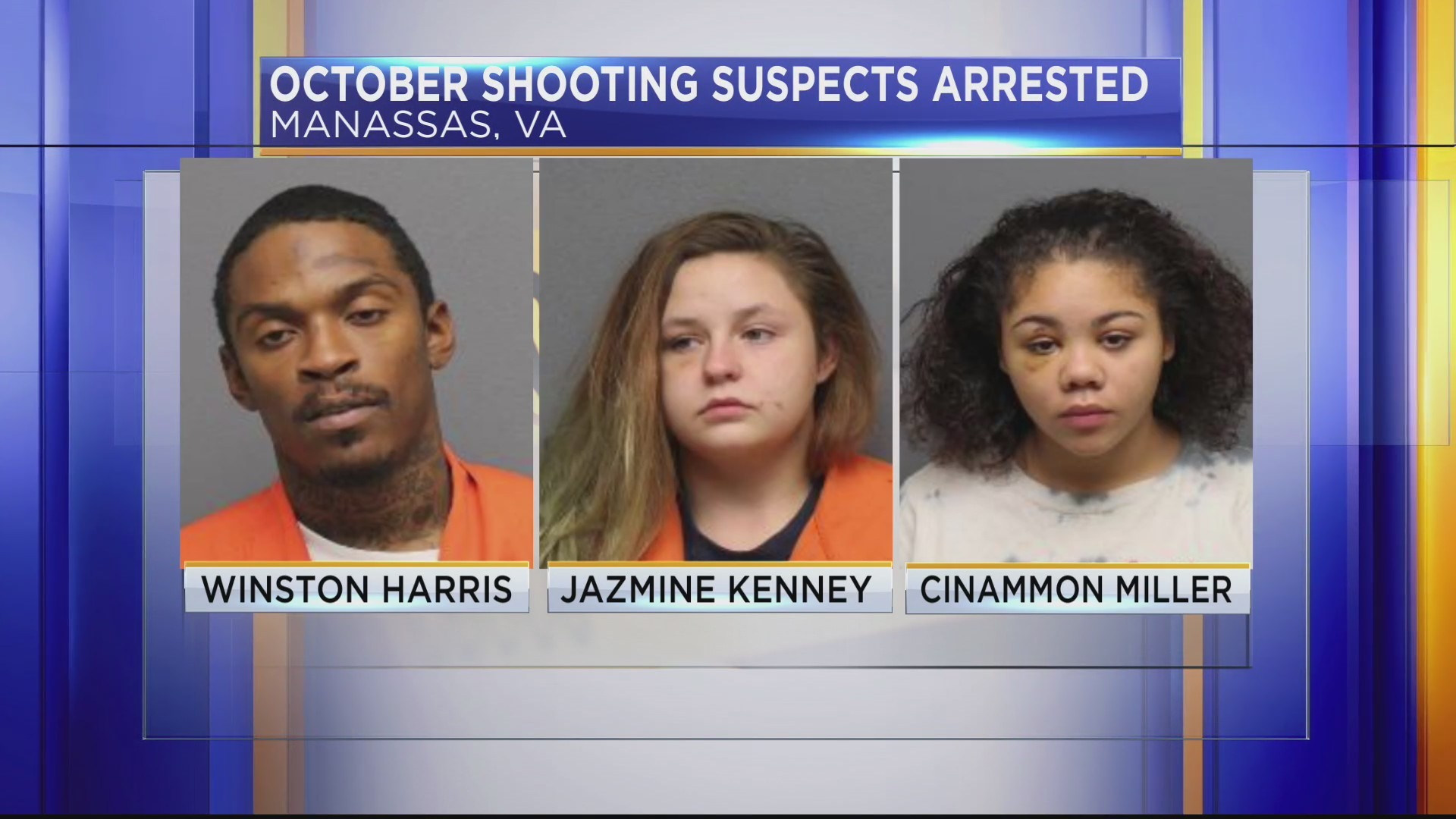 Police arrest three suspects involved in shooting