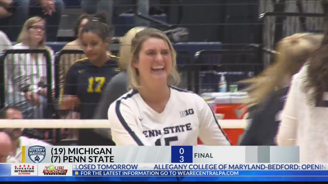 Penn State Volleyball rolls Michigan Wednesday Night