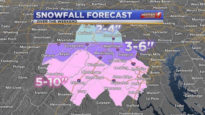 Snowfall Forecast through Sunday 13 January 2019
