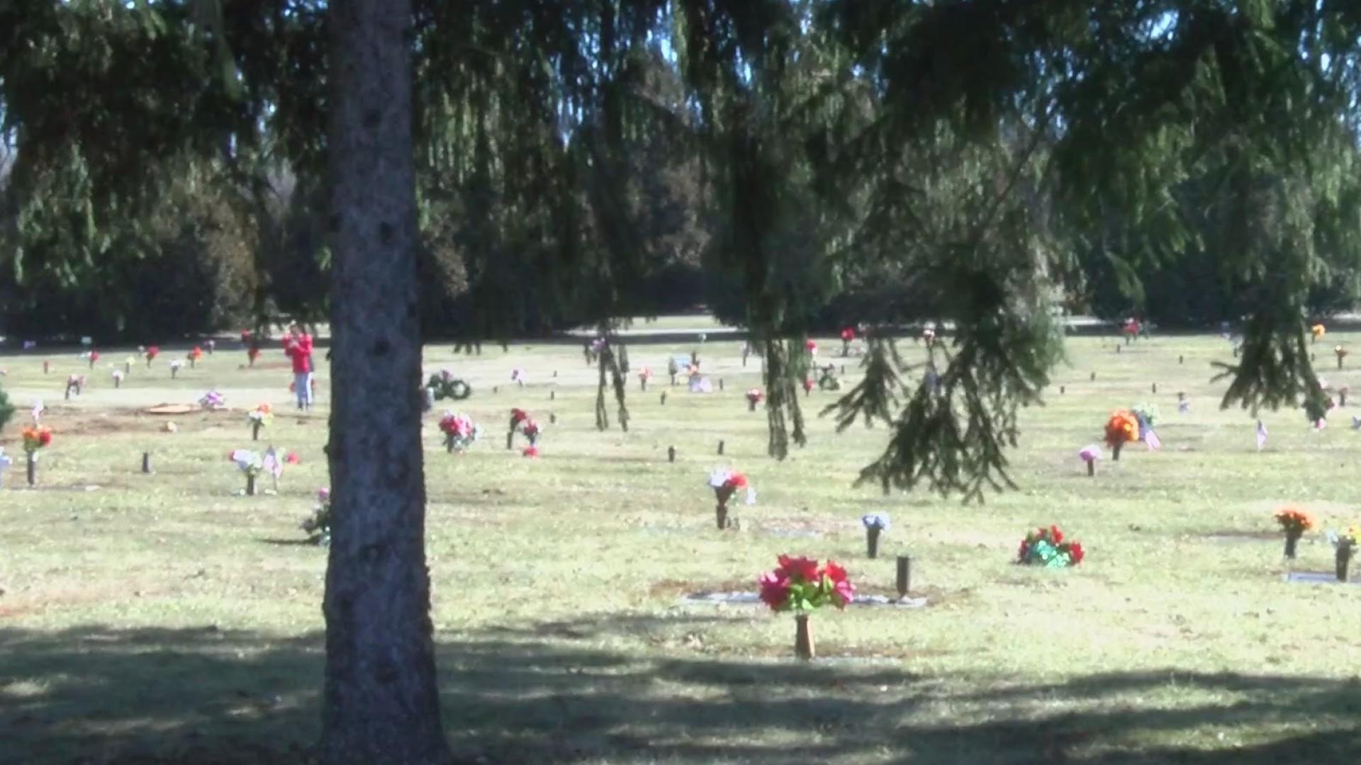 Cemetery damage update
