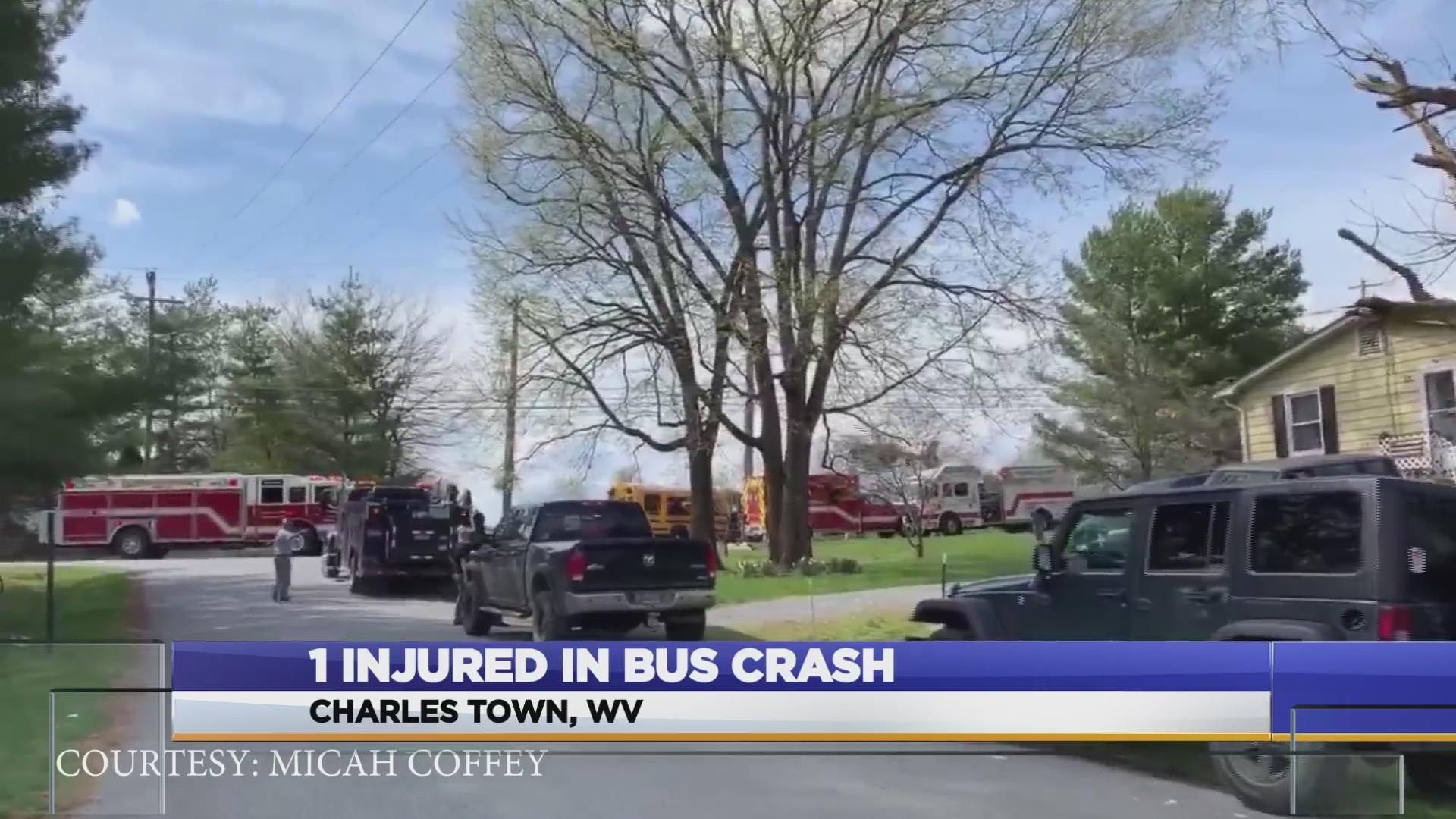 DEVELOPING: 1 injured in school bus-involved crash in