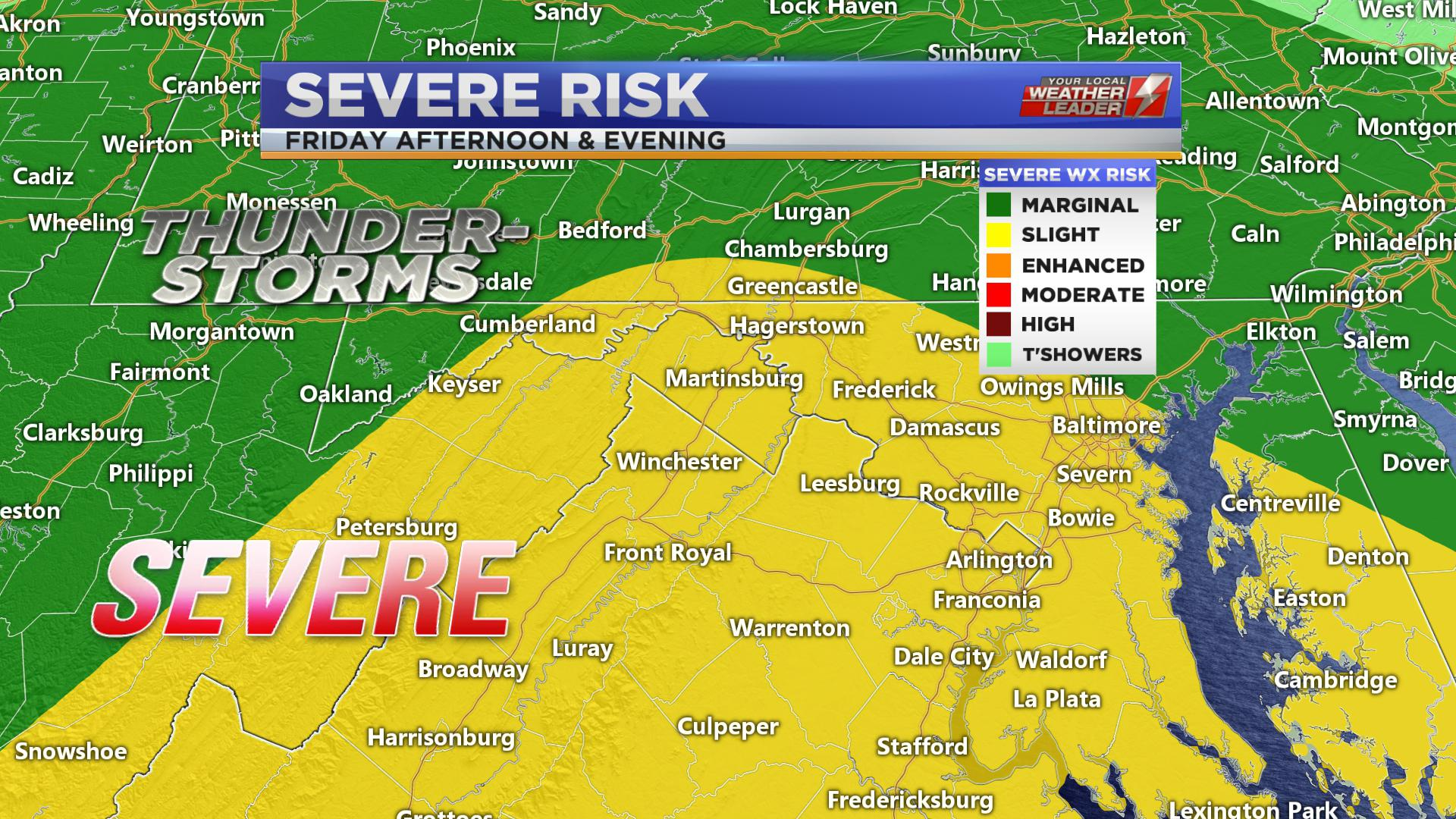 SEVERE WEATHER for Friday 19 April 2019
