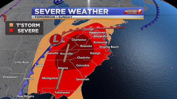 Severe Weather for Sunday 14 April 2019