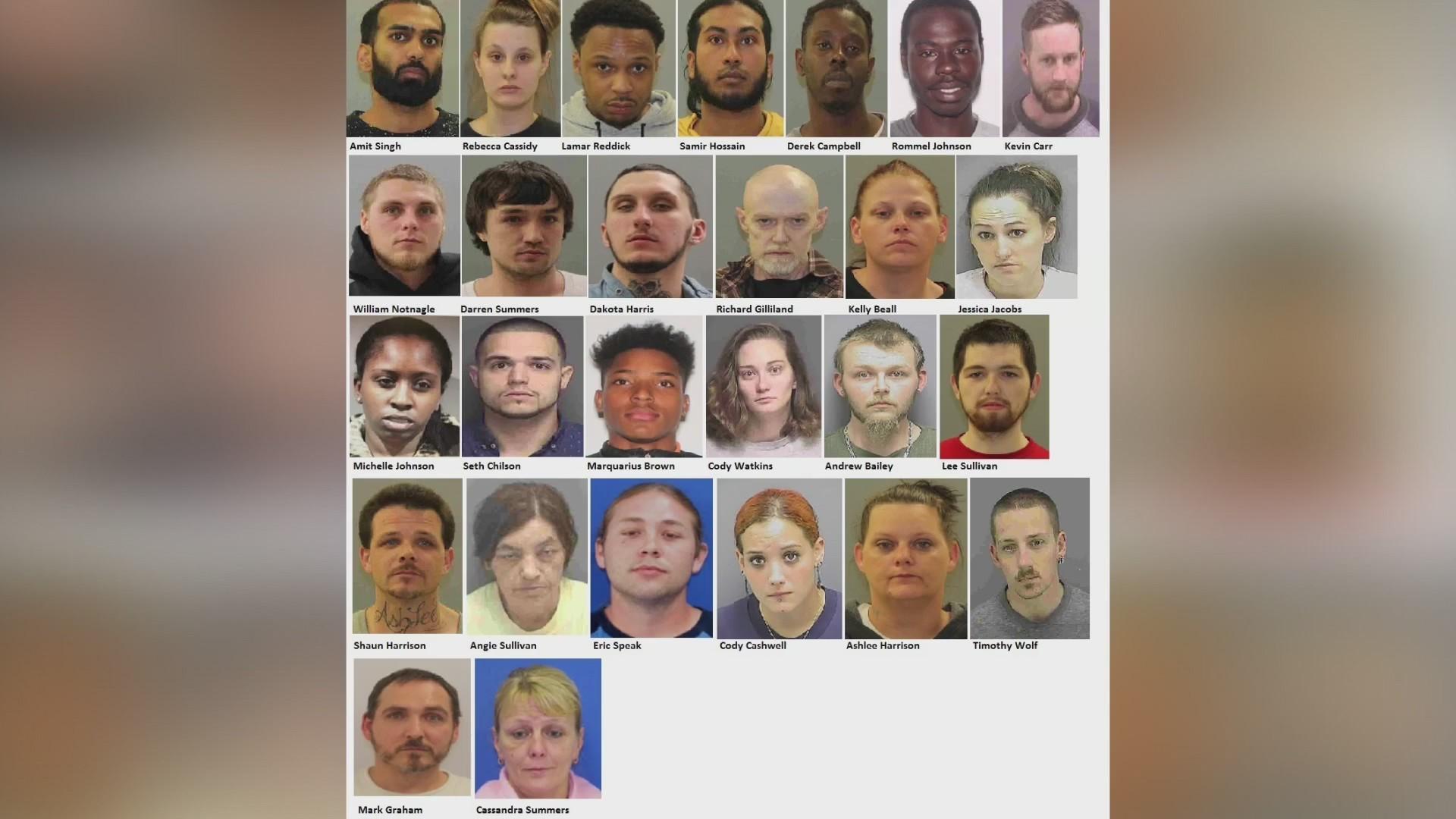 27 people arrested after Frederick Police dismantle drug