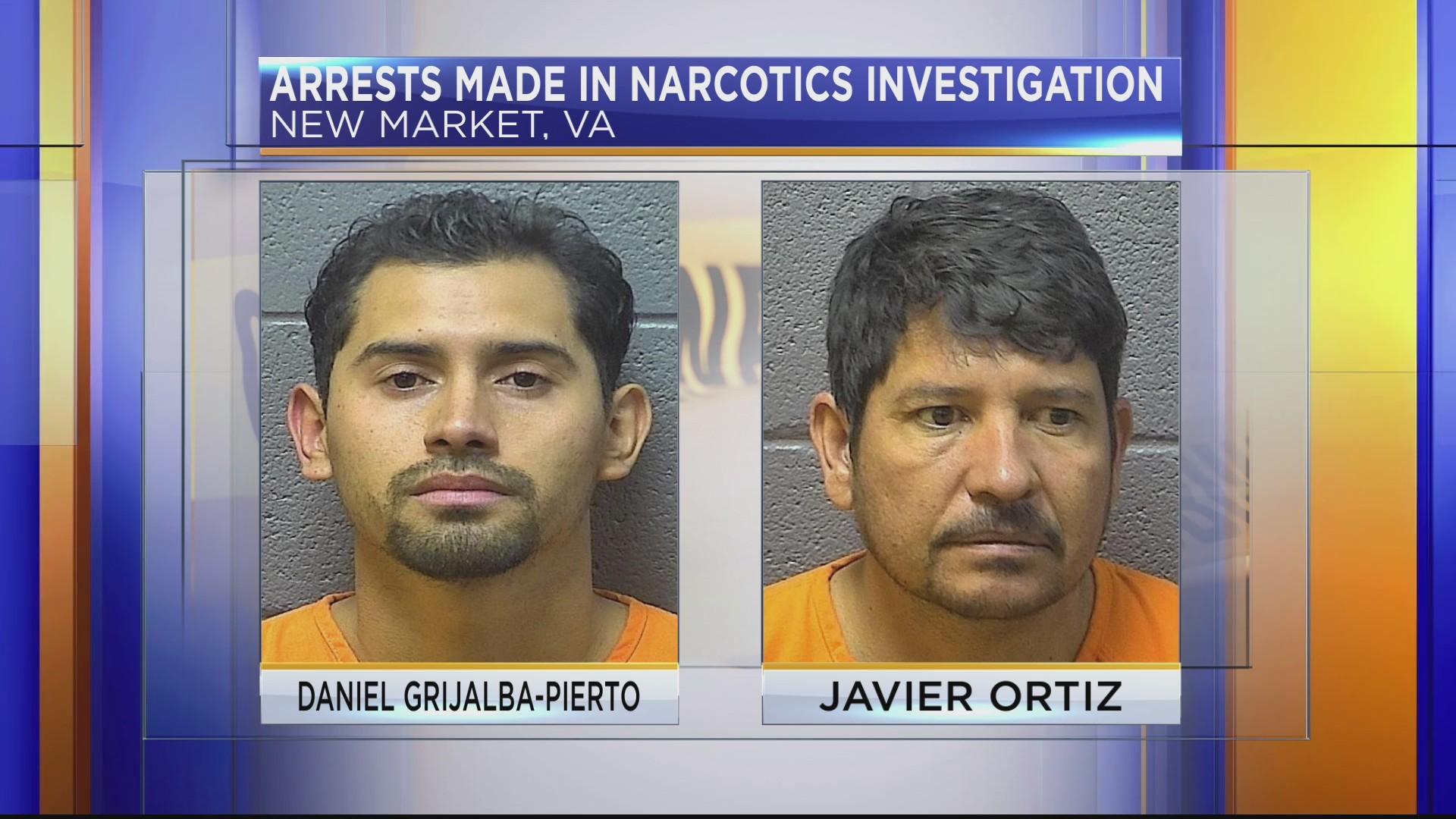 Two men arrested in Shenandoah County narcotics investigation