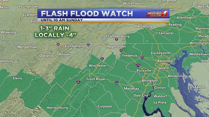 Flash Flood Watch for Sunday 05 May 2019