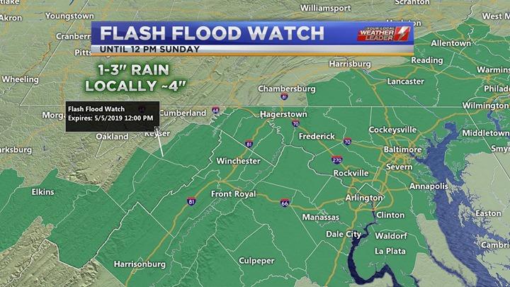 Flash Flood Watch Sunday 05 May 2019