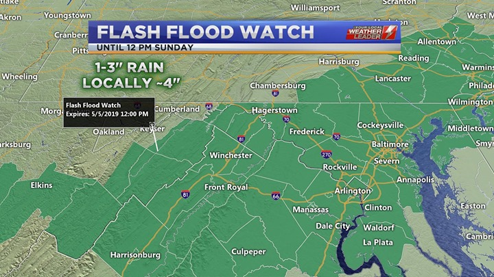Flash Flood Watch Sunday 05 May 2019