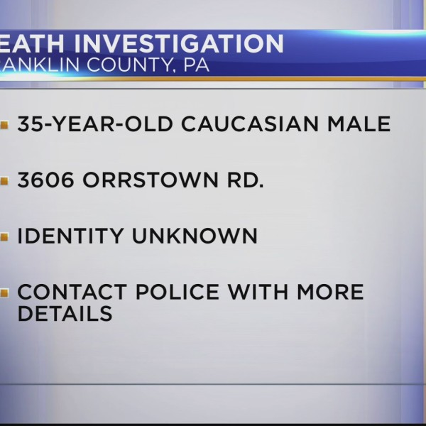 Death investigation in Franklin County