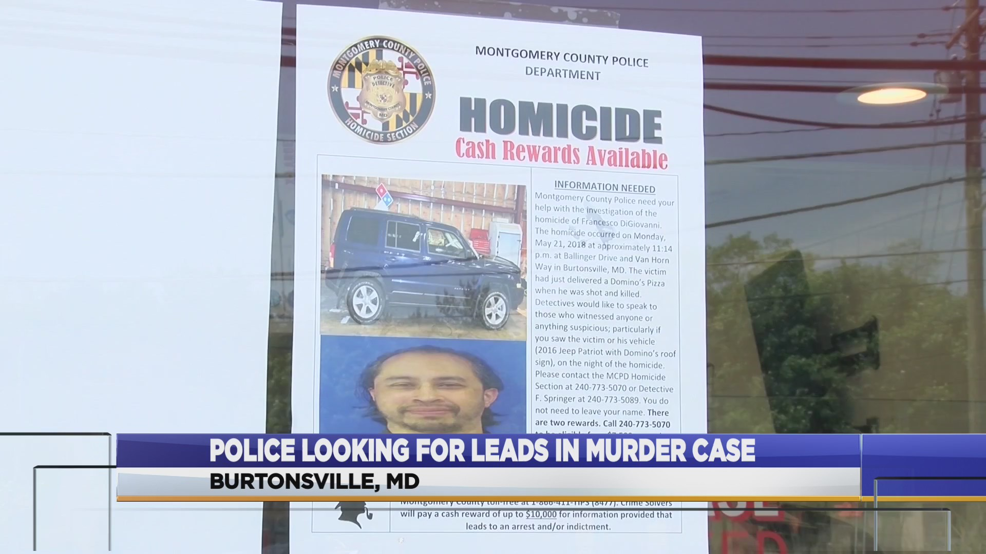 Police continue search for pizza delivery man's murderer one year later