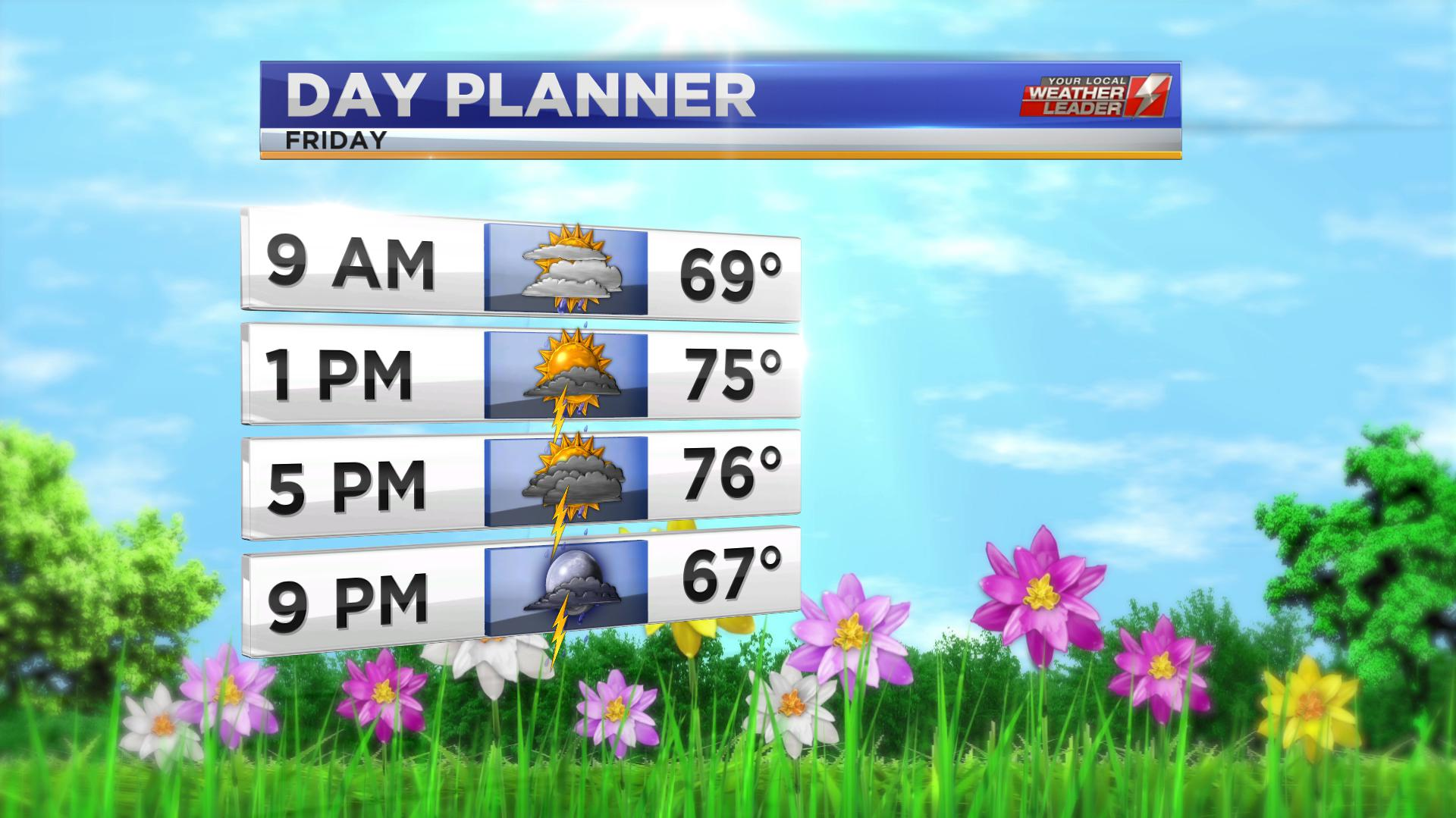 Day Planner for Friday 10 May 2019