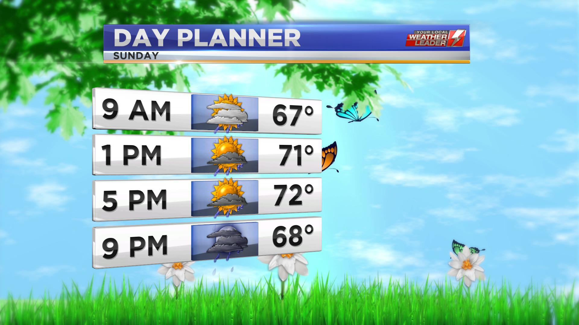 Day Planner for Sunday 09 June 2019