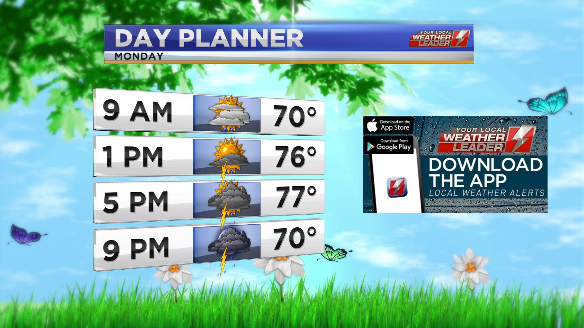 Day Planner for Monday 10 June 2019