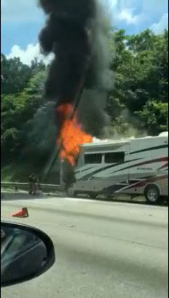 RV fire on I-95 northbound | WDVM 25
