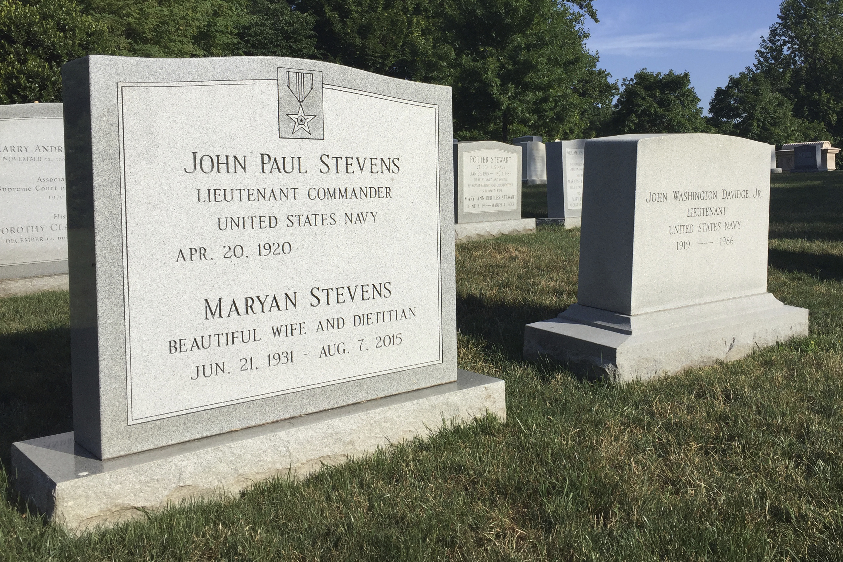 Stevens to be 13th Supreme Court justice buried at Arlington