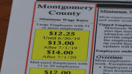 Minimum wage increased in Montgomery County | WDVM 25
