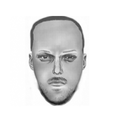 Sketch of the alleged criminal