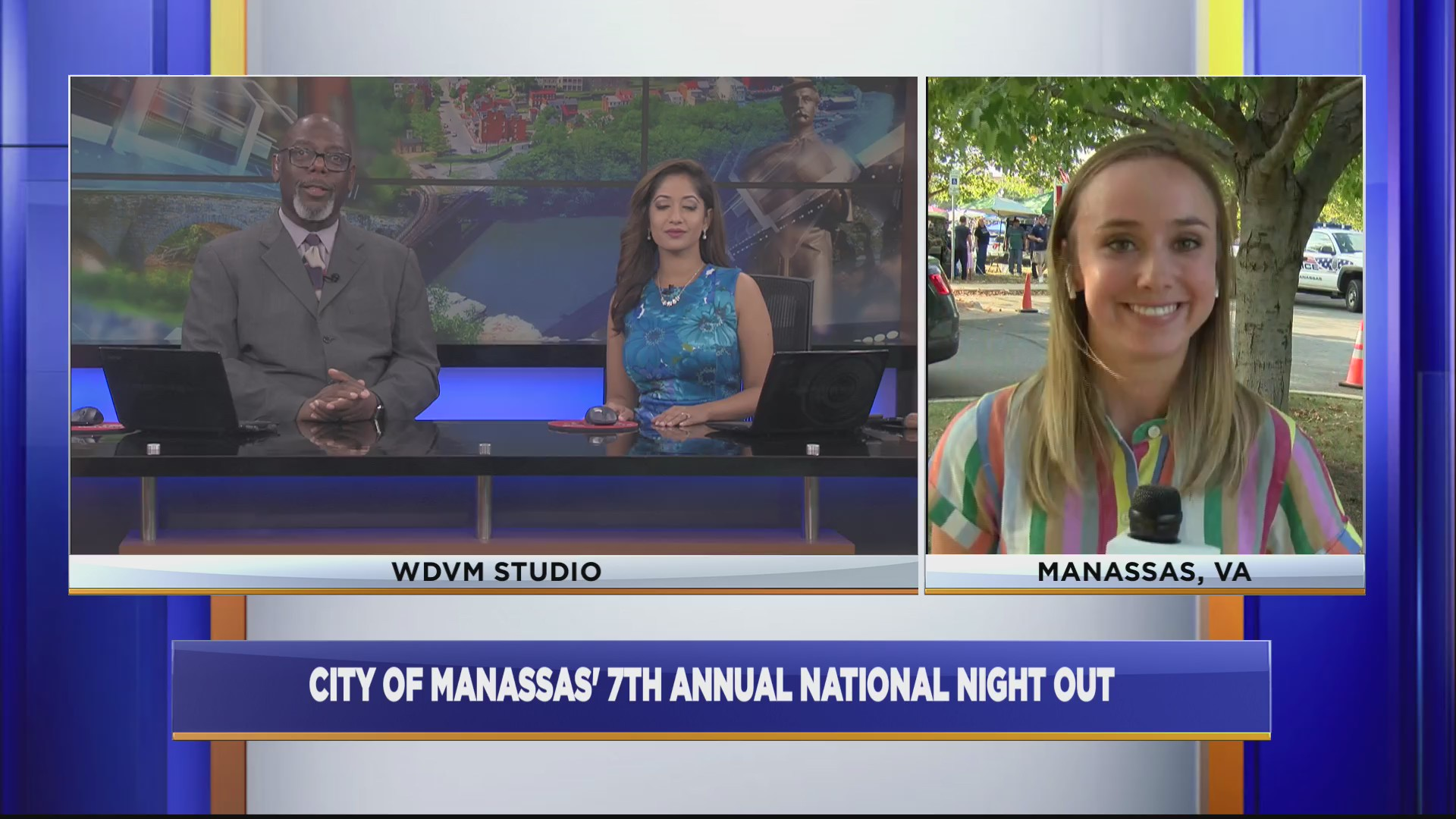 Excellent National Night Out Live From Manassas Museum Wdvm 25 Beutiful Home Inspiration Papxelindsey Bellcom