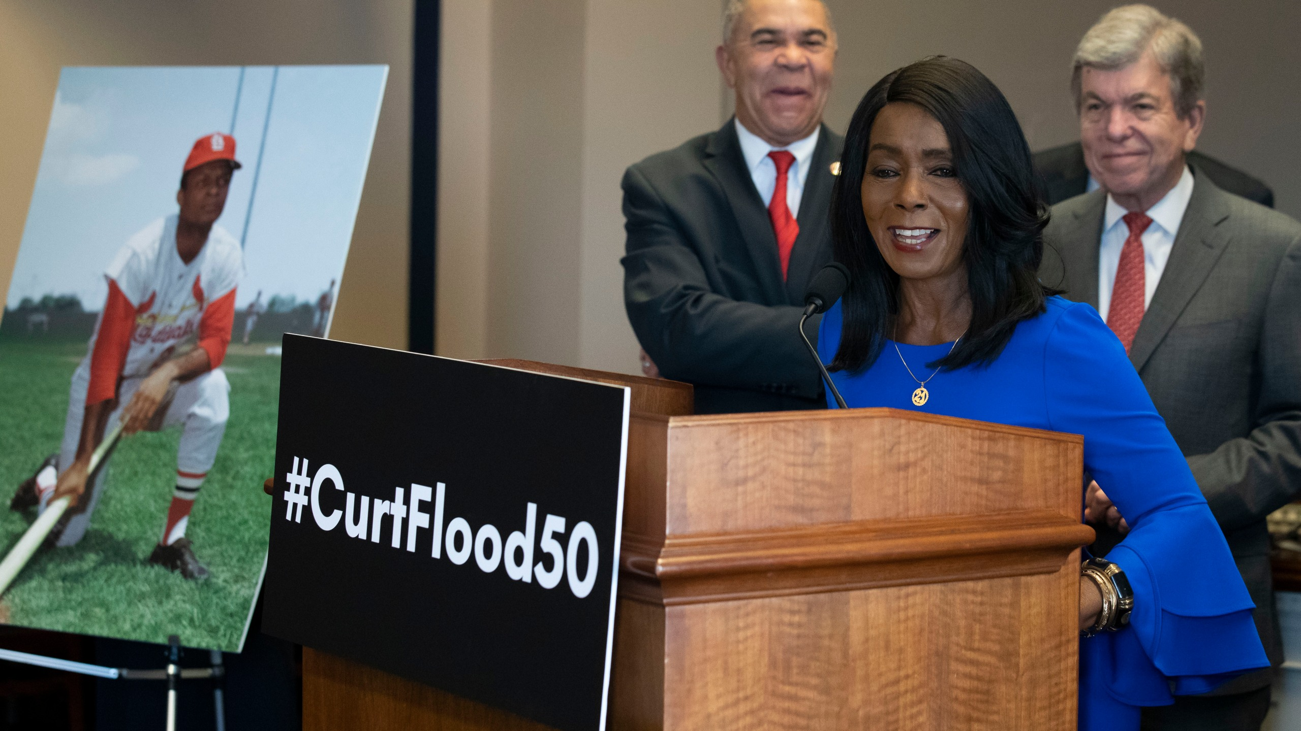William Lacy Clay, Roy Blunt, Judy Pace Flood